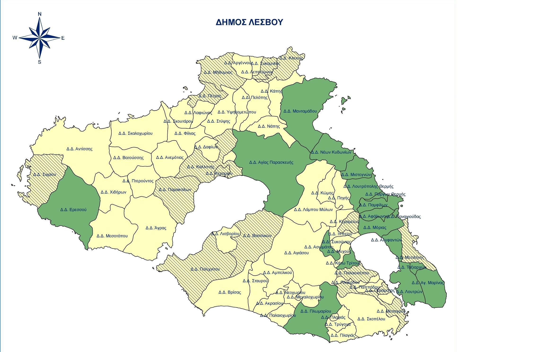 χαρτης Λεσβου